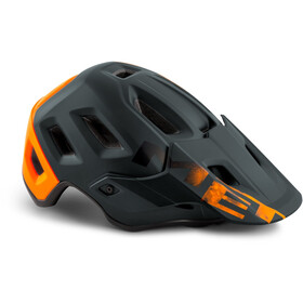 MET Roam Kask rowerowy, black/orange matte